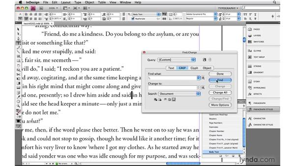 Escaping out metacharacters: Learning GREP with InDesign