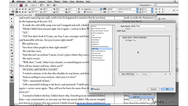Specifying locations: Learning GREP with InDesign