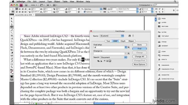 Specifying exact matches and ranges: Learning GREP with InDesign