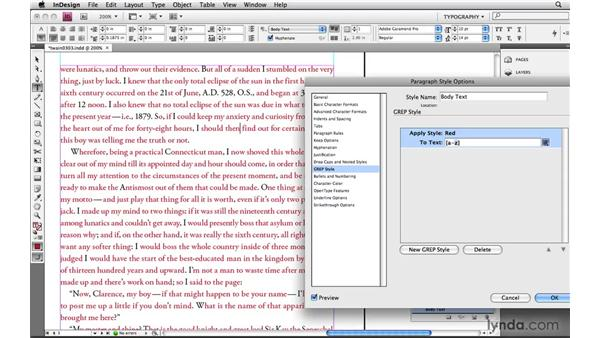 Using character sets to create custom wild cards: Learning GREP with InDesign