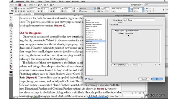 Finding around text with lookbehind and lookahead: Learning GREP with InDesign