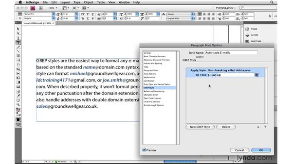 Describing and styling email addresses: Learning GREP with InDesign