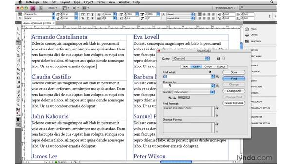 Using formatting and styles as Find/Change criteria: Learning GREP with InDesign