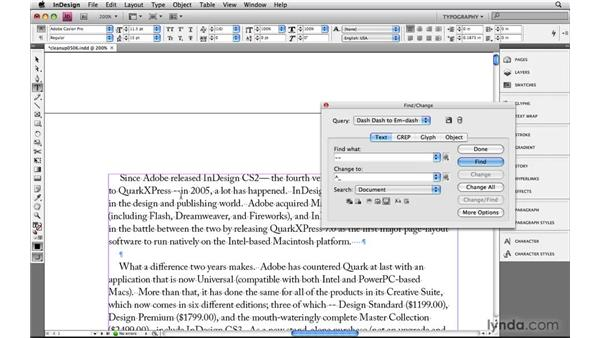 Cleaning up text with GREP: Learning GREP with InDesign