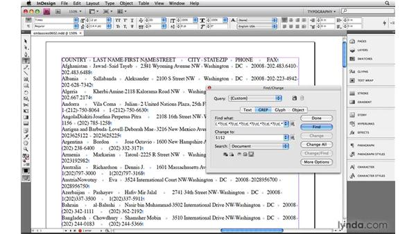 Rearranging imported spreadsheet data: Learning GREP with InDesign