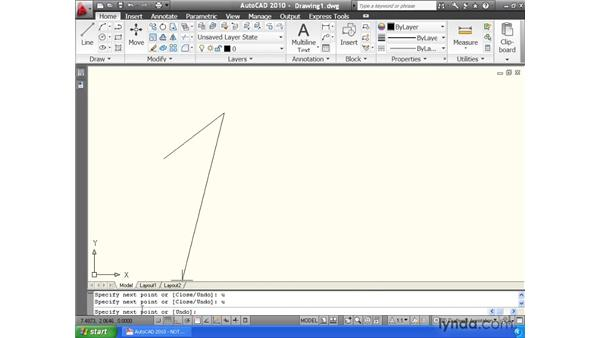 Understanding the anatomy of a command: AutoCAD 2010 Essential Training