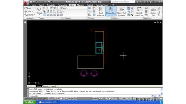 Working in a multiple-document environment: AutoCAD 2010 Essential Training