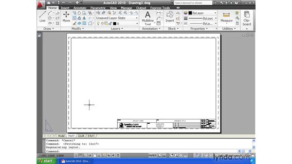 Saving time with templates: AutoCAD 2010 Essential Training