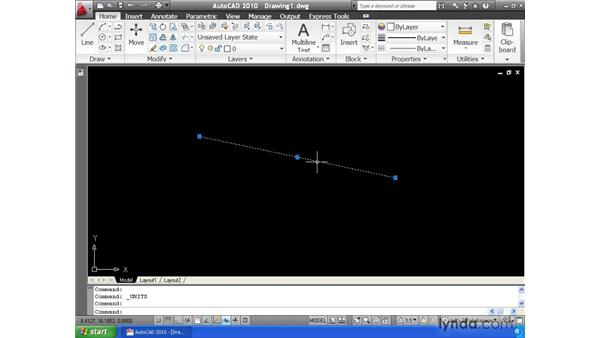 Defining a unit of measure: AutoCAD 2010 Essential Training