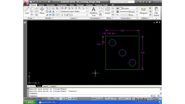 Automating object snap selection: AutoCAD 2010 Essential Training
