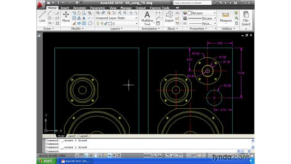 Using temporary tracking to find points in space: AutoCAD 2010 Essential Training