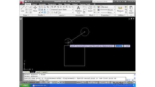 Moving and copying elements: AutoCAD 2010 Essential Training