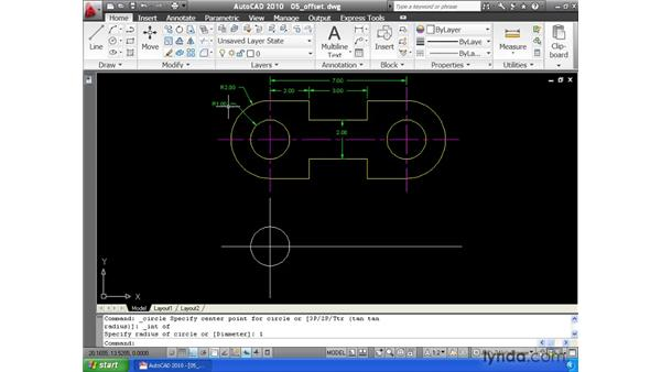 Creating offsets: AutoCAD 2010 Essential Training