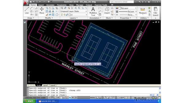 Using keyboard shortcuts: AutoCAD 2010 Essential Training