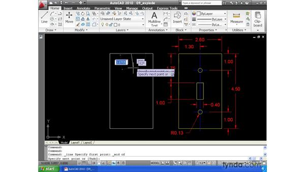 Exploding elements: AutoCAD 2010 Essential Training