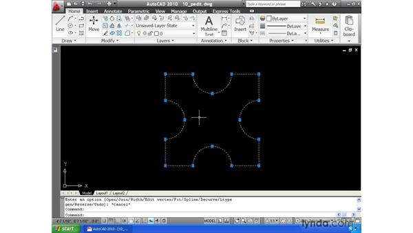 Joining elements together: AutoCAD 2010 Essential Training