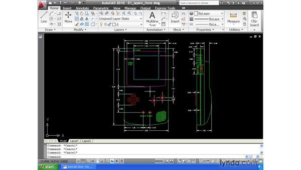 Understanding layers: AutoCAD 2010 Essential Training