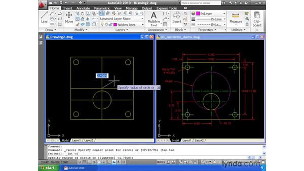 Using layers to organize a drawing: AutoCAD 2010 Essential Training