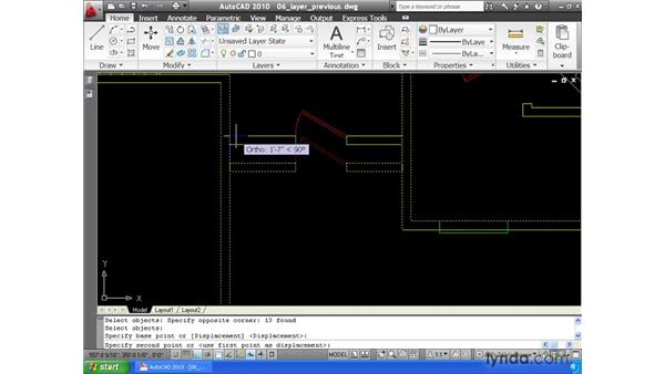 Using the Layer Previous command: AutoCAD 2010 Essential Training