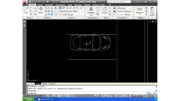 Inserting blocks: AutoCAD 2010 Essential Training