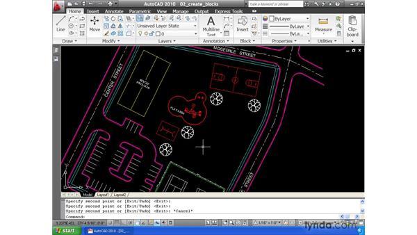 Creating blocks: AutoCAD 2010 Essential Training