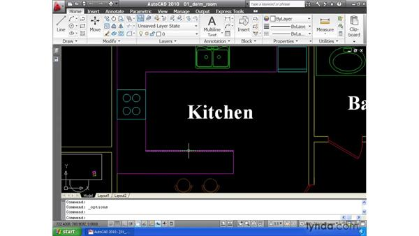 Querying drawing using rollover tool tips: AutoCAD 2010 Essential Training