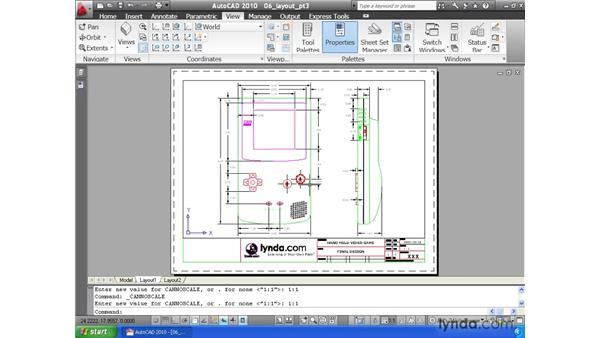 Creating a layout pt. 3: Cutting viewports: AutoCAD 2010 Essential Training