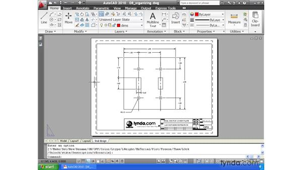 Organizing layouts: AutoCAD 2010 Essential Training