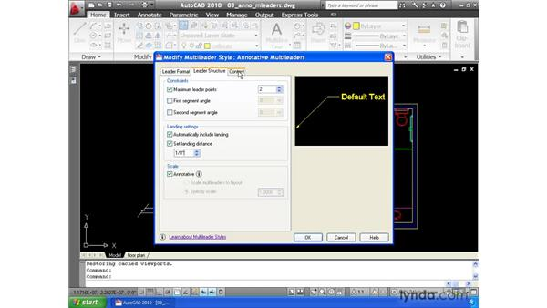 Using the Annotative property to automatically size callouts: AutoCAD 2010 Essential Training