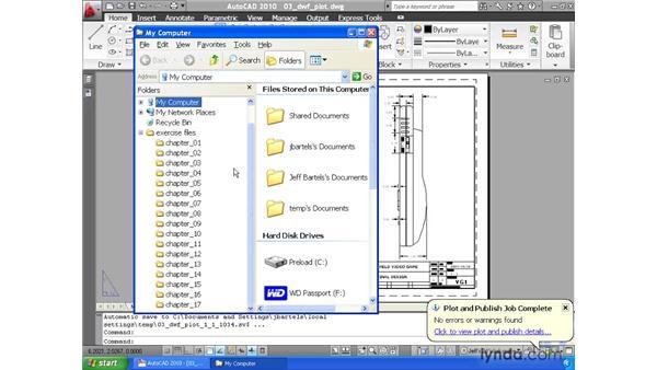 Plotting to the Design Web Format: AutoCAD 2010 Essential Training