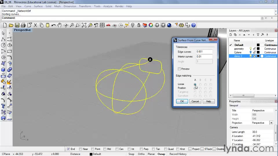 Creating complex surface shapes using Network Surface