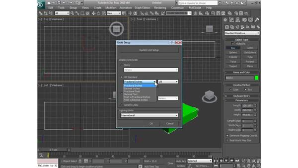 Controlling how 3ds Max measures: 3ds Max 2010 Essential Training