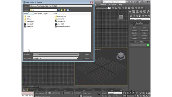 Customizing the interface: 3ds Max 2010 Essential Training