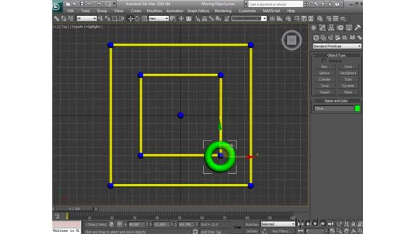Moving objects: 3ds Max 2010 Essential Training