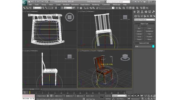 Rotating objects: 3ds Max 2010 Essential Training