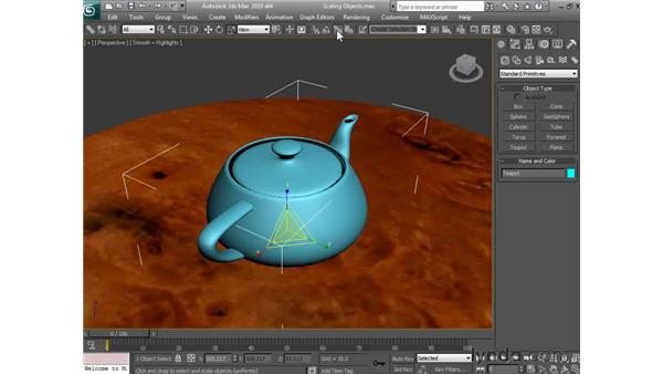 Scaling objects: 3ds Max 2010 Essential Training