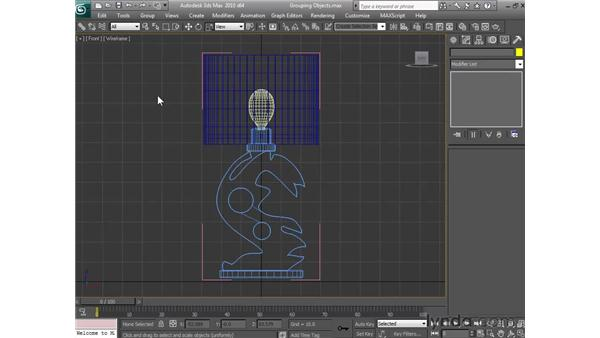 Grouping objects: 3ds Max 2010 Essential Training