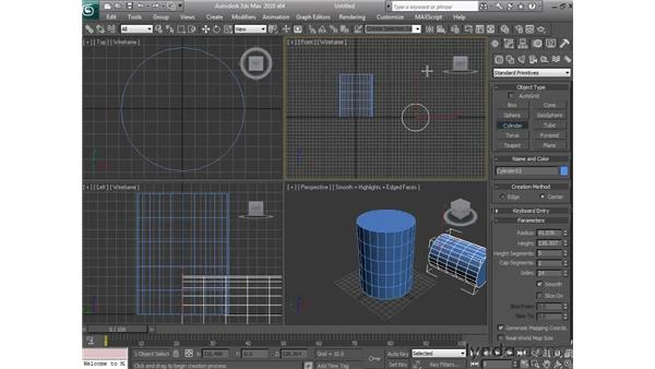 Creating standard primitive objects: 3ds Max 2010 Essential Training