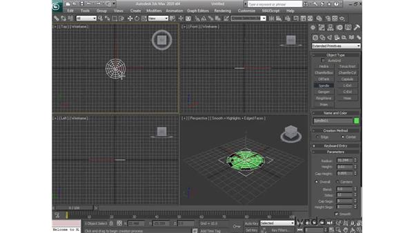 Creating extended primitive objects: 3ds Max 2010 Essential Training
