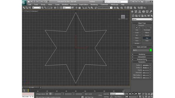 Creating shapes: 3ds Max 2010 Essential Training