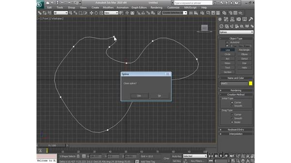 Creating lines: 3ds Max 2010 Essential Training
