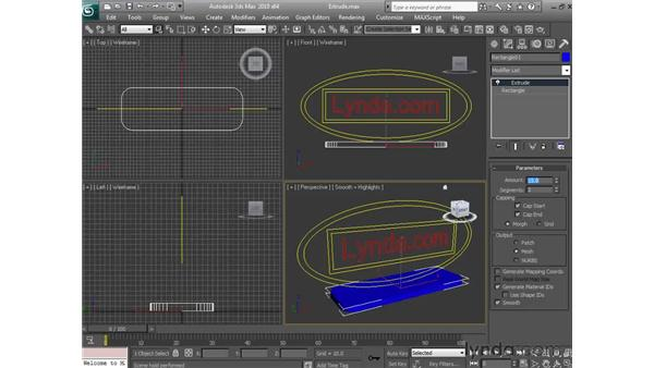 Extruding objects: 3ds Max 2010 Essential Training