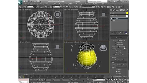 Lathing objects: 3ds Max 2010 Essential Training