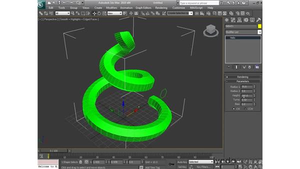 Lofting objects: 3ds Max 2010 Essential Training