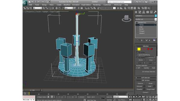 Building a chandelier with box modeling: 3ds Max 2010 Essential Training