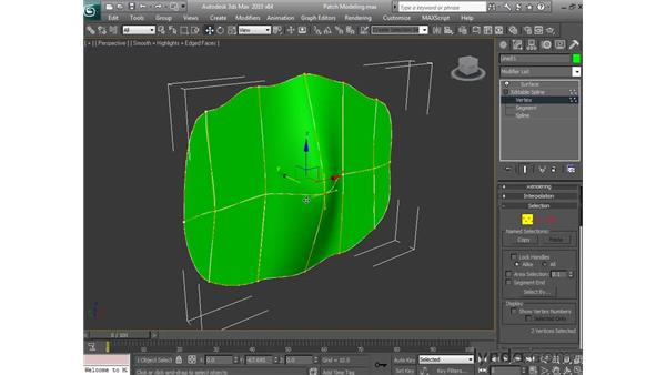 Patch modeling: 3ds Max 2010 Essential Training