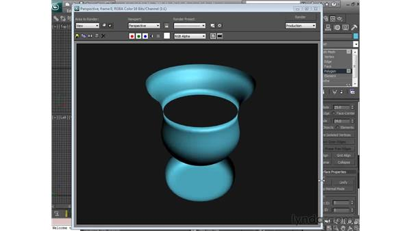 Surface normals: 3ds Max 2010 Essential Training