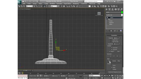 Building the stand: 3ds Max 2010 Essential Training