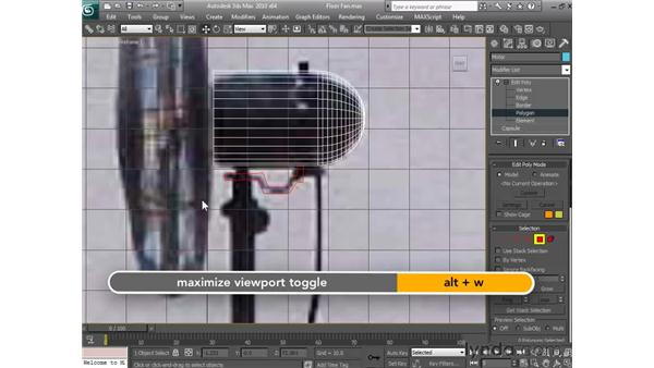 Building the motor housing: 3ds Max 2010 Essential Training