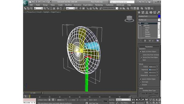 Building the fan blade cage: 3ds Max 2010 Essential Training